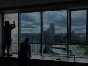 Тонирование балконов пленкой от солнца в Екатеринбурге ООО Уралтехпром