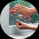 Монтаж нанесение витражной пленки на окна витражи в Екатеринбурге ООО Уралтехпром