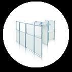Бронирование стеклянных перегород в офисе или торговом центре УралТехПром