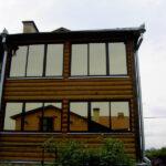 Тонировка от солнца домашних окон загородного дома